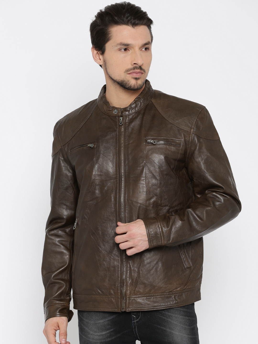 the sale of shoes on sale new concept Jack and jones 1828804001 Brown Biker Jacket - Best Price ...