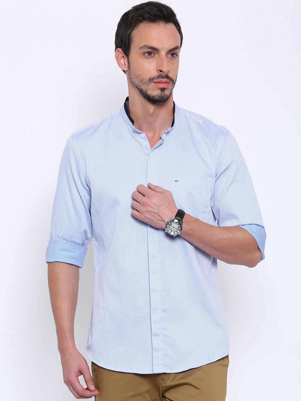 0bf71ebb48 Indigo nation 50010386253005 Men Blue Regular Fit Self Design Casual Shirt-  Price in India