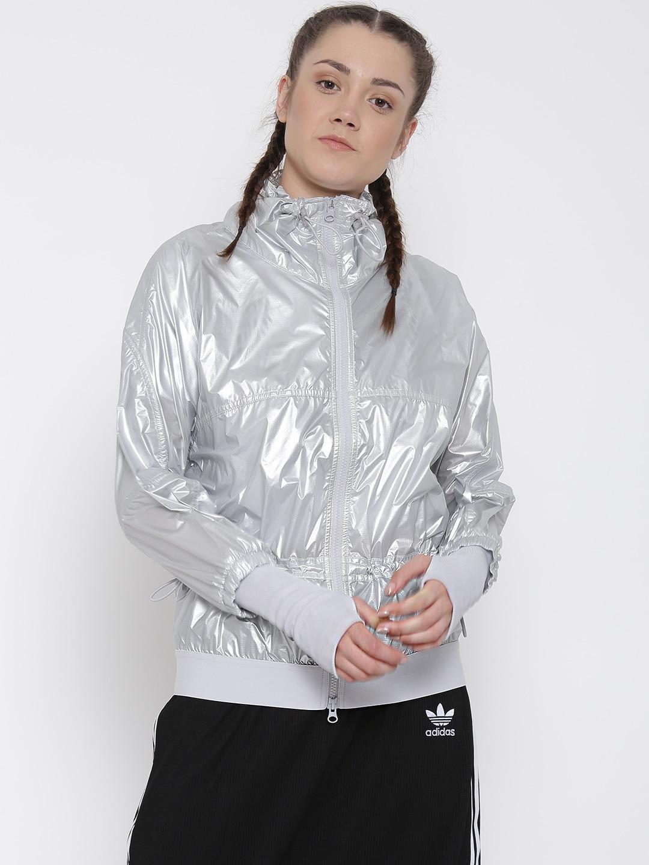 Adidas az8149 Stella Mccartney By Silver Run Metal Jacket
