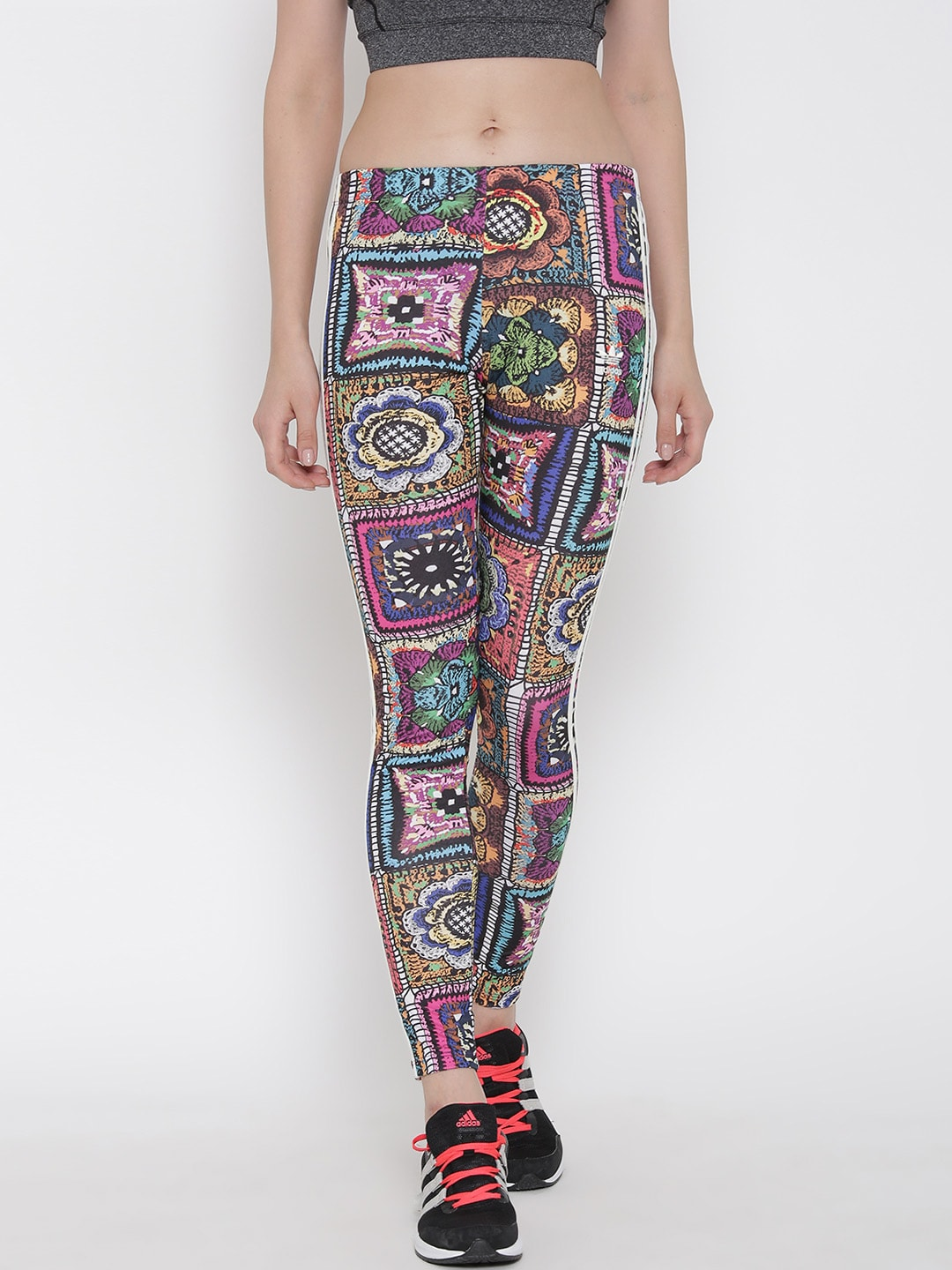 a0e3e9f2688623 Adidas originals ay6845 Multicoloured Crochita Printed Tights - Best ...