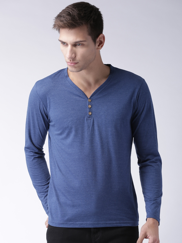 Design your t shirt myntra - Moda Rapido Men Grey Self Design Henley Neck T Shirt
