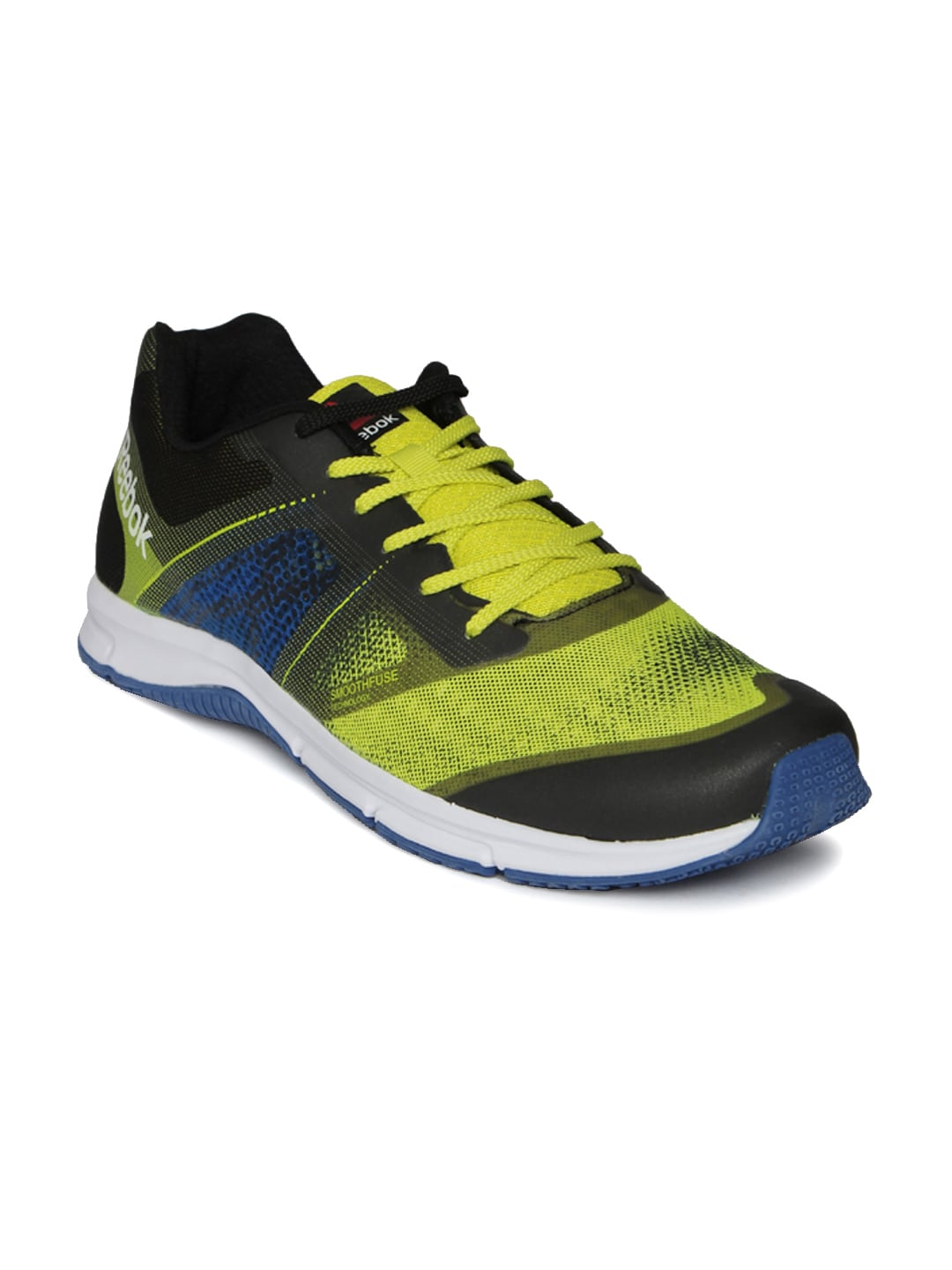 24741766315b Reebok bd3556 Men Charcoal Grey And Lime Green Quick Win Running Shoes- Price  in India