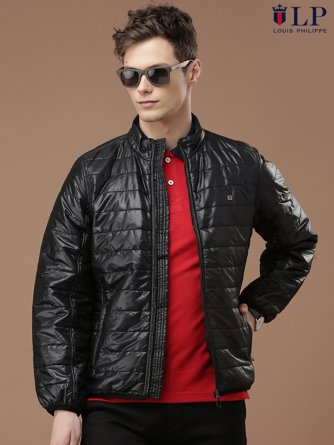 6fac72571bc Louis philippe lyow516s03290 Sport Black Quilted Jacket - Best Price ...