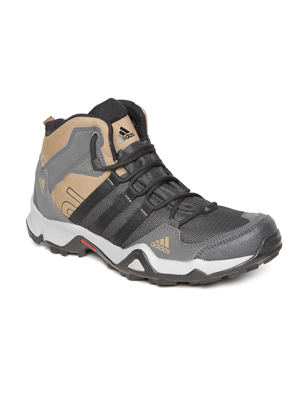 3c99bc075cd32b Adidas ba5385 Men Charcoal Grey Ax2 Mid Mid Top Trekking Shoes- Price in  India