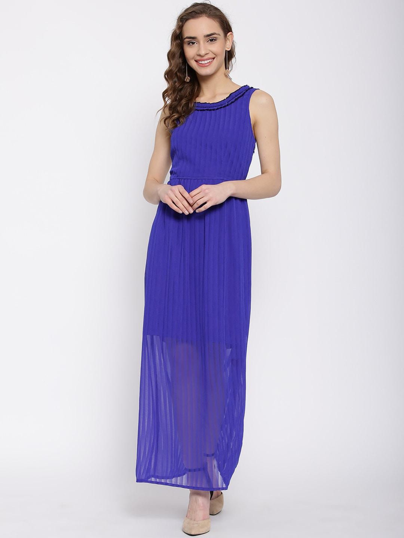 b68652a9e20 Latin quarters lqd5734-blue Women Blue Printed Midi Dress - Best ...