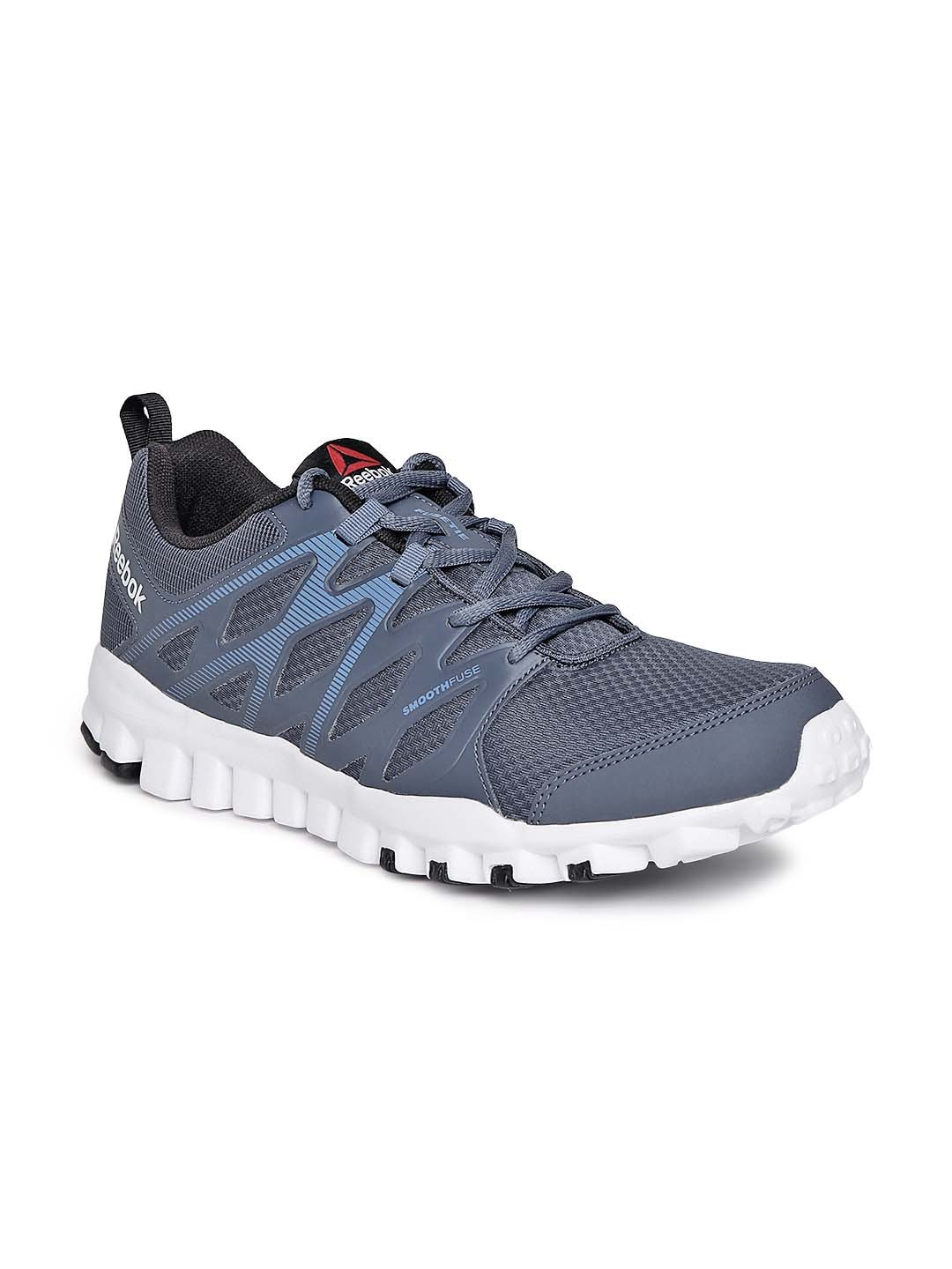 new style 40ca3 3427e Reebok ar3050 Men Blue Realflex Train 4 0 Training Shoes- Price in India