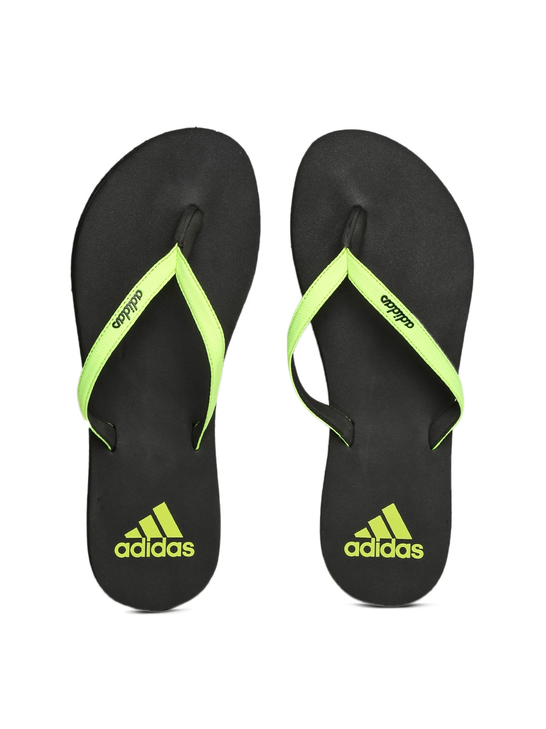 45f7d6f30 Adidas bh7088 Women Fluorescent Green And Black Eezay Max Out Flip Flops-  Price in India