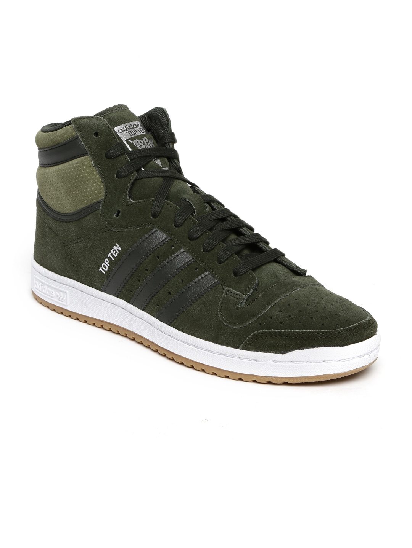 8f5e04d63c Adidas b27510 Originals Men Olive Green Perforated High Top Ten Hi Sneakers-  Price in India