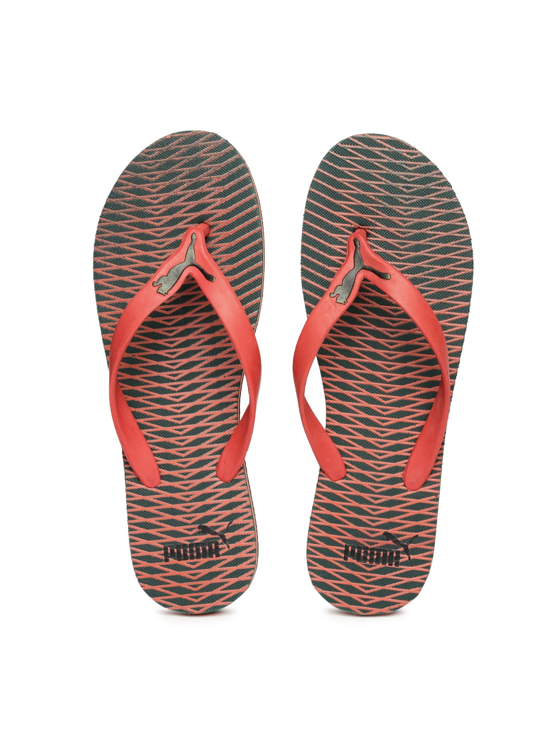 3147abfadc8c Puma 36325702 Men Red And Green Printed Graphic Flip Flops- Price in India