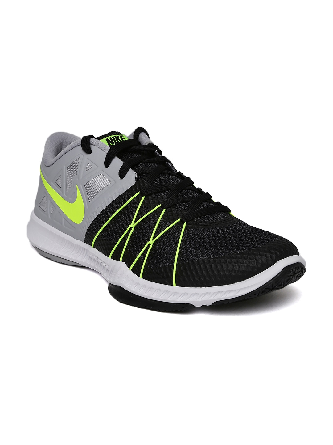the latest 03715 6ad7e Nike Men Black And Grey Zoom Incredibly Fast Training Shoes