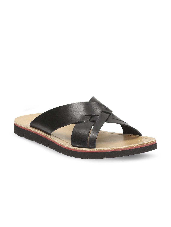 c3bc054b8981 Clarks 91261195227 Men Brown Netrix Pool Textured Leather Sandals ...