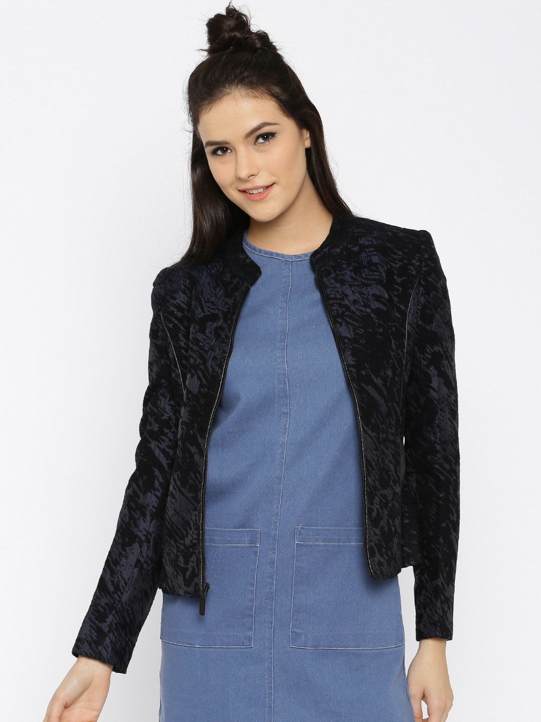 955e8490177 Madame 8907184847884 Navy Bomber Jacket - Best Price in India ...