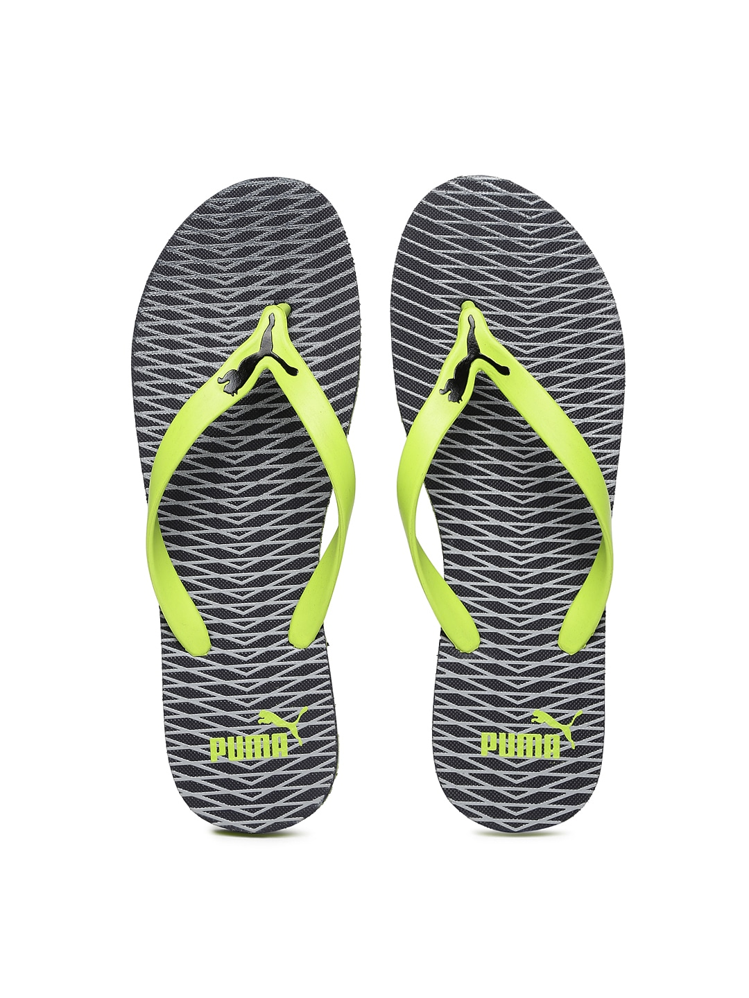 03a1cfcf3a0d Puma 36325701 Men Lime Green And Grey Luca Printed Flip Flops- Price in  India