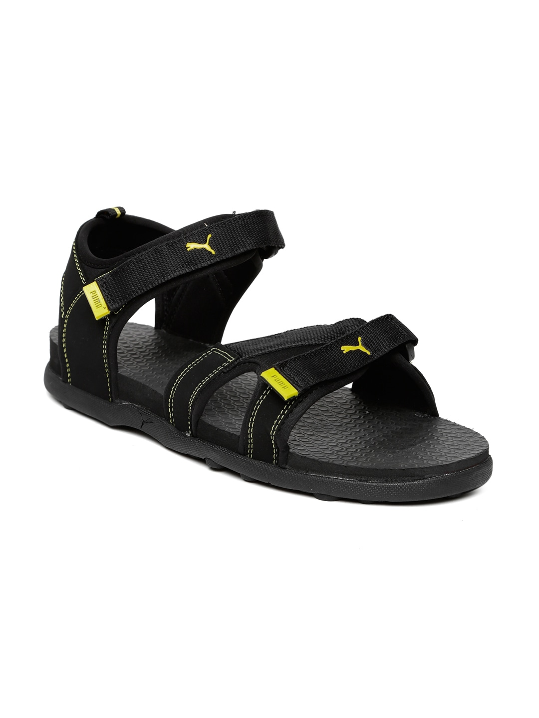 cba270a86597 Puma 36451803 Unisex Black And Yellow Techno Idp Sports Sandals- Price in  India