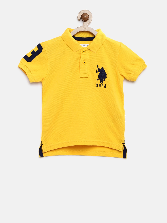 6ff4e2366c Buy U.S. Polo Assn. Kids Boys Navy Blue Polo T Shirt - Tshirts for ...