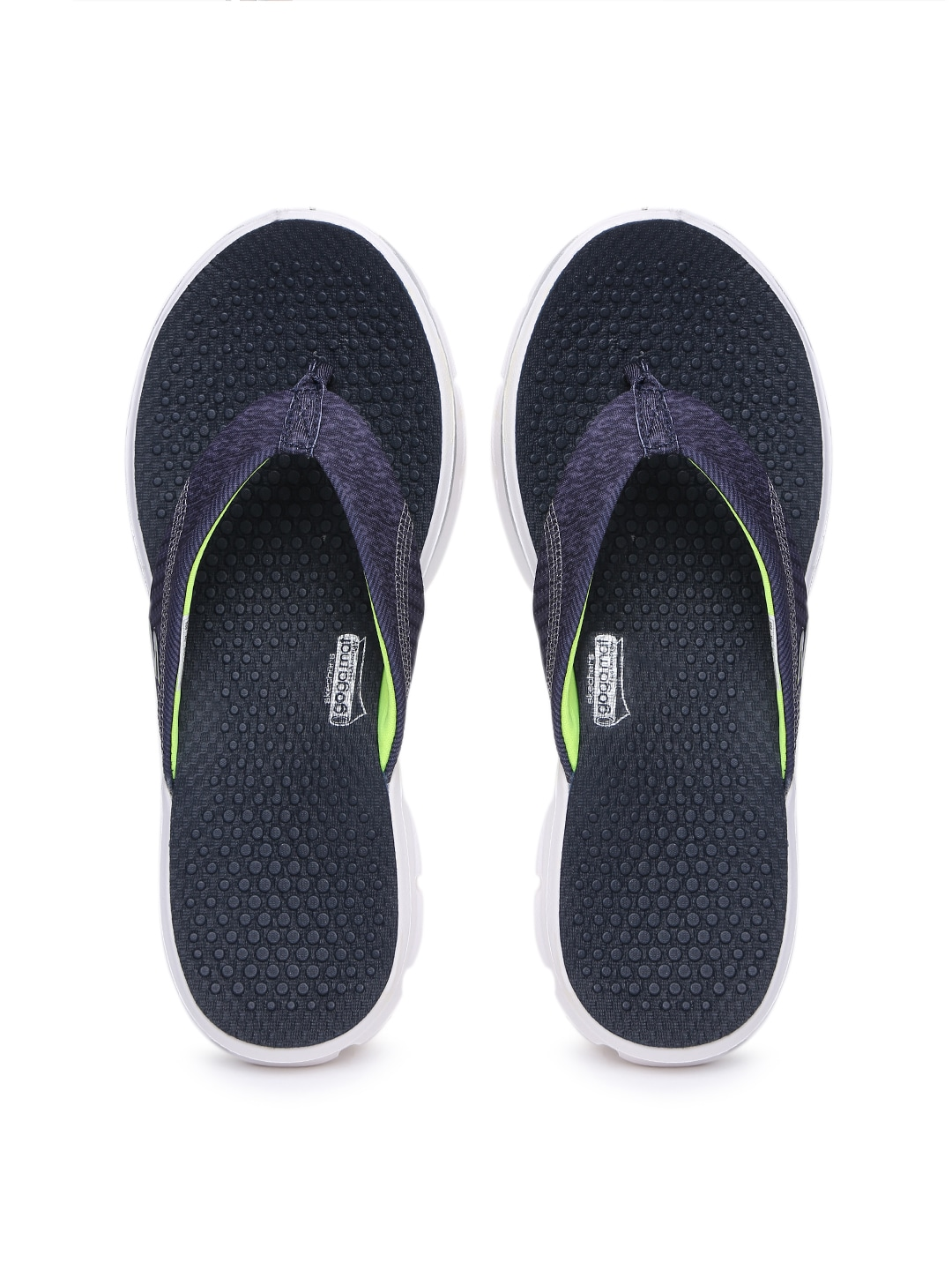 b8d57a6020c2 Skechers 14250-nvw Women Navy Go Walk Pizazz Flip Flops- Price in India