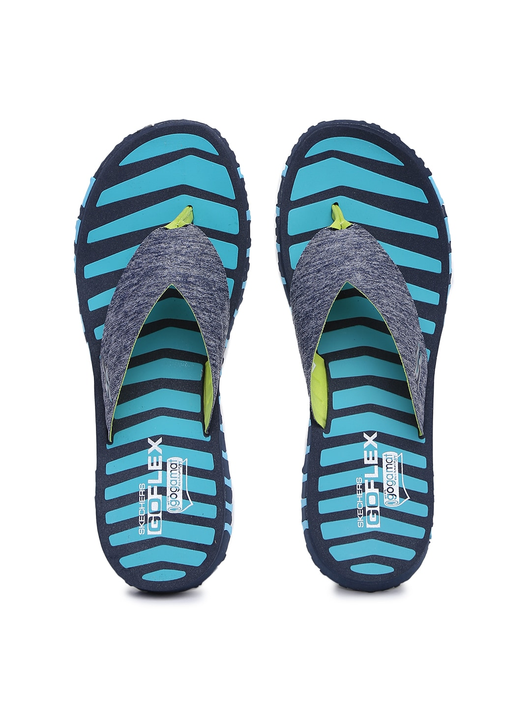 54636c0d78e6 Skechers 14258-nvbl Women Blue Striped Go Flex Vitality Flip Flops- Price  in India