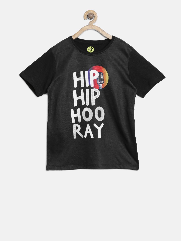 ee92c94e Buy YK Boys Blue & Yellow Pikachu Print T Shirt - Tshirts for Boys ...