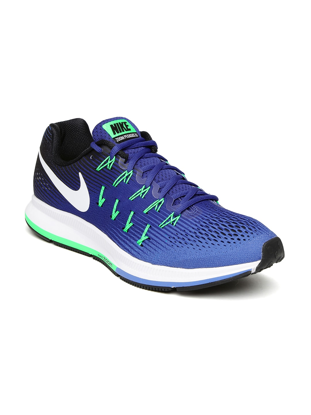 low priced 27036 a3874 Nike 831352-404 Men Blue Air Zoom Pegasus 33 Running Shoes ...