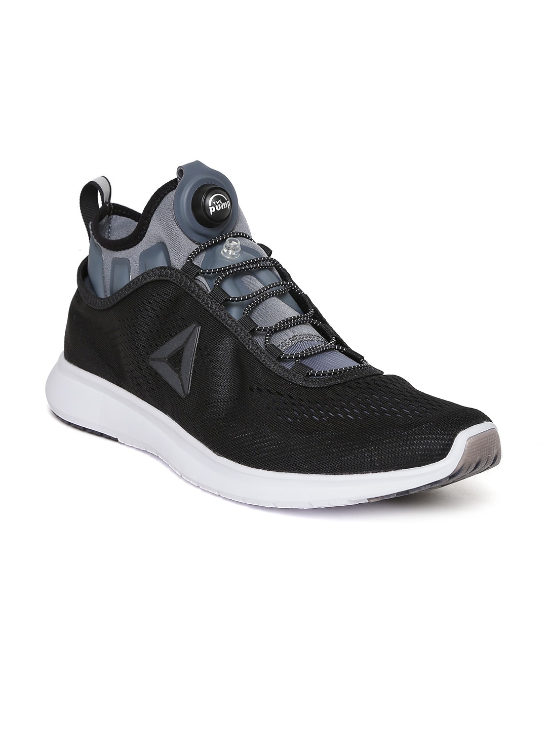 abbb5ce5731 Reebok bd4866 Men Black Pump Plus Tech Running Shoes- Price in India