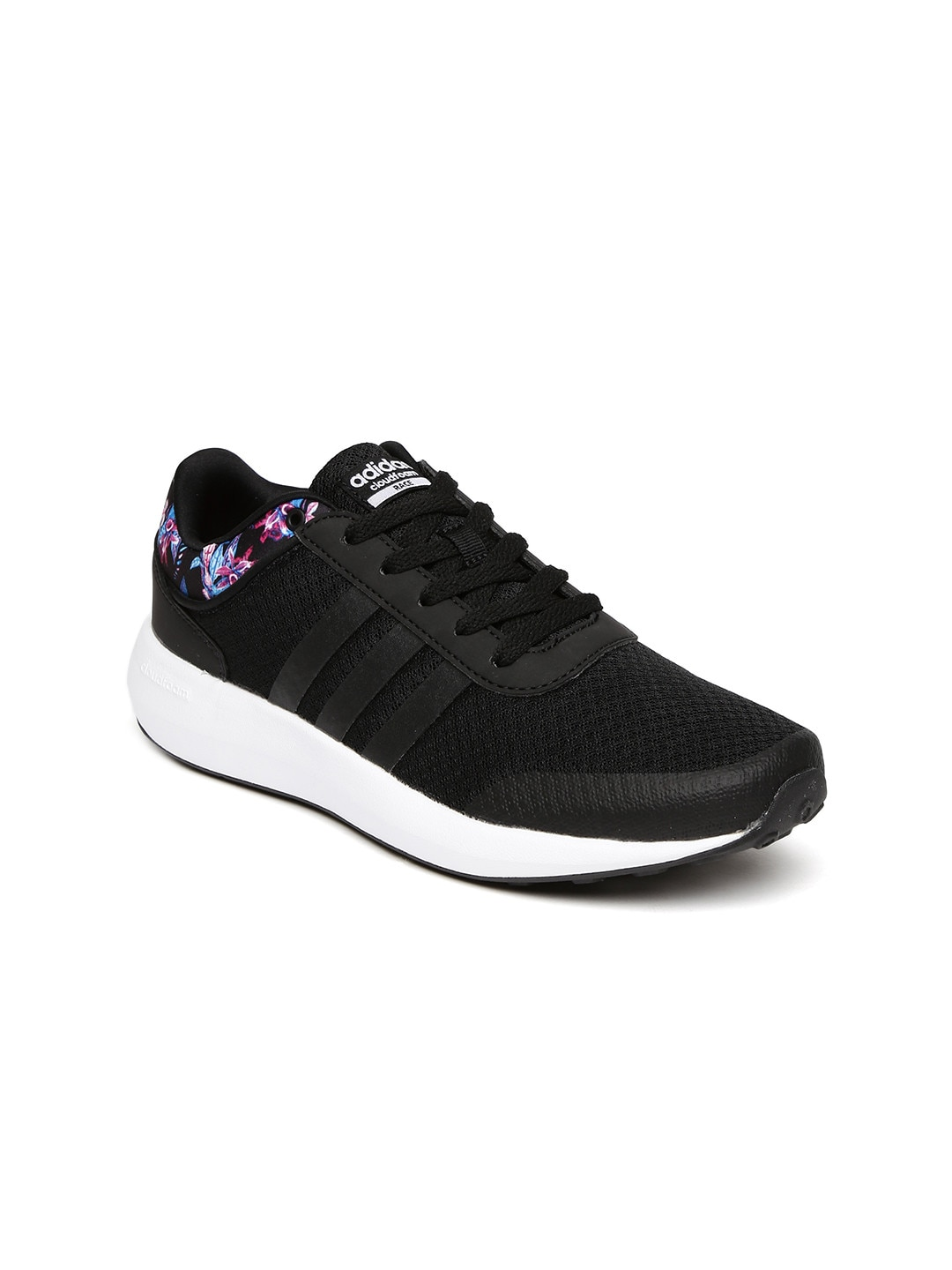 acd00d82f3f9 Adidas aw3845 Neo Women Black Cloudfoam Race Sneakers- Price in India