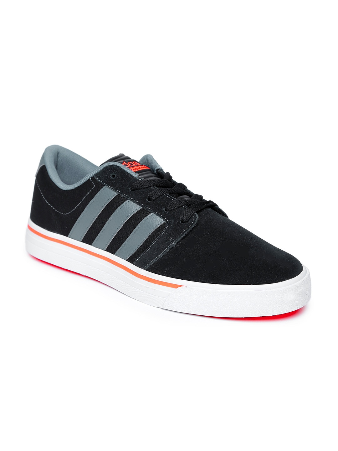 Adidas Neo Shoes Black And Red