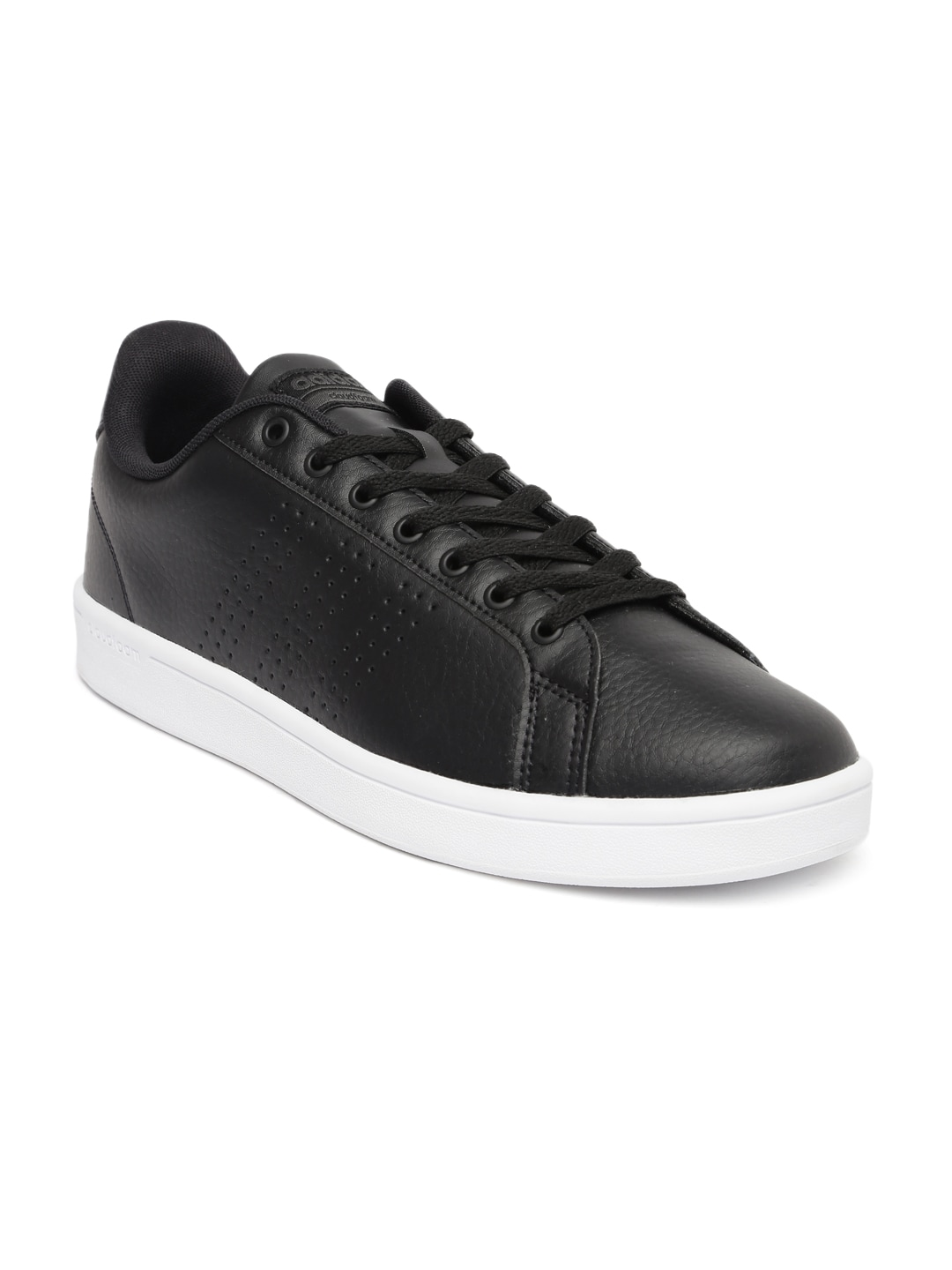 quality design 4637d 6d877 Adidas aw3915 Neo Men Black Solid Leather Cloudfoam Advantage Clean  Sneakers- Price in India