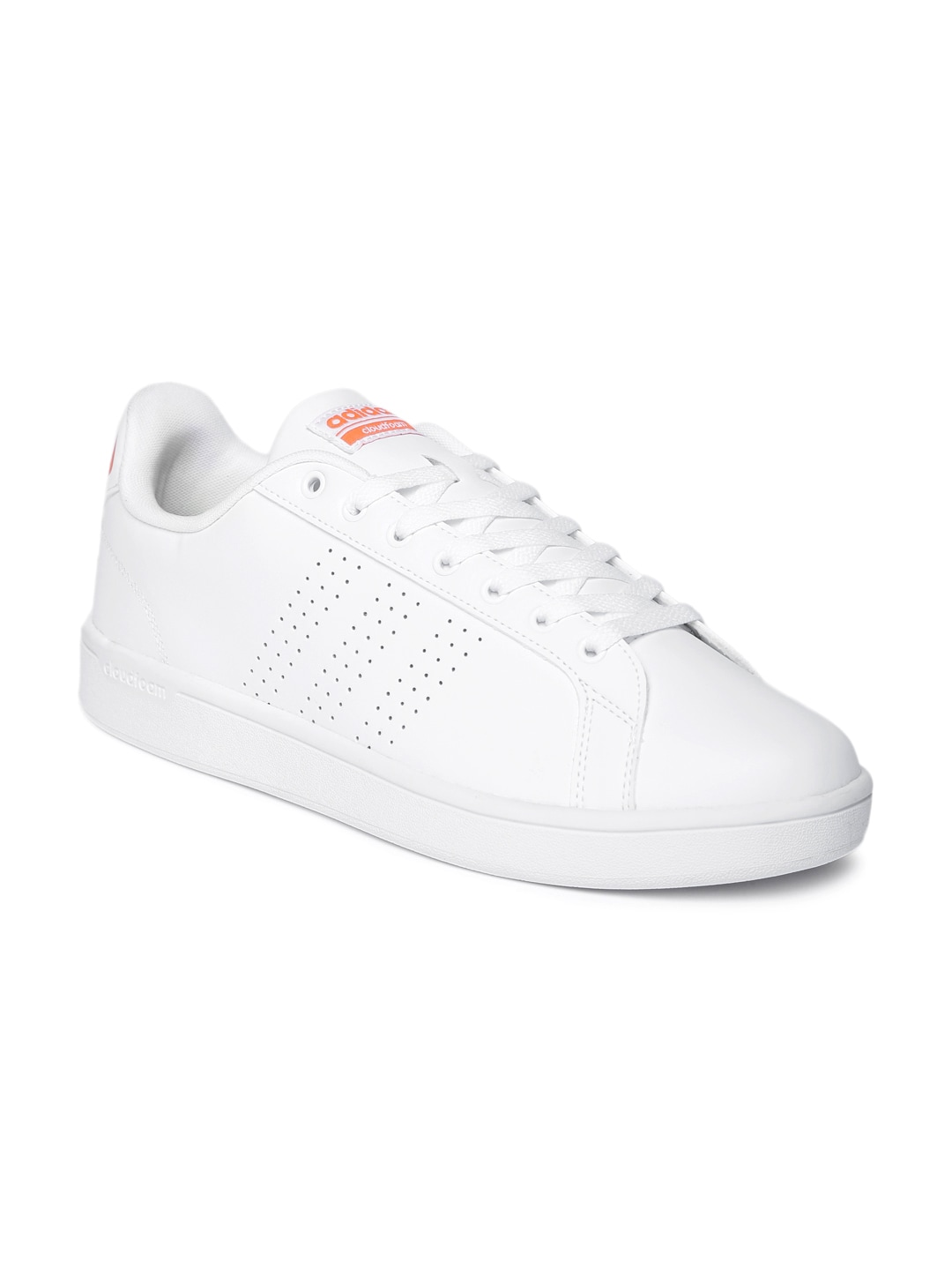 huge discount c6aa6 d90f3 Adidas aw3916 Neo Men White Leather Cloudfoam Advantage Clean Sneakers-  Price in India