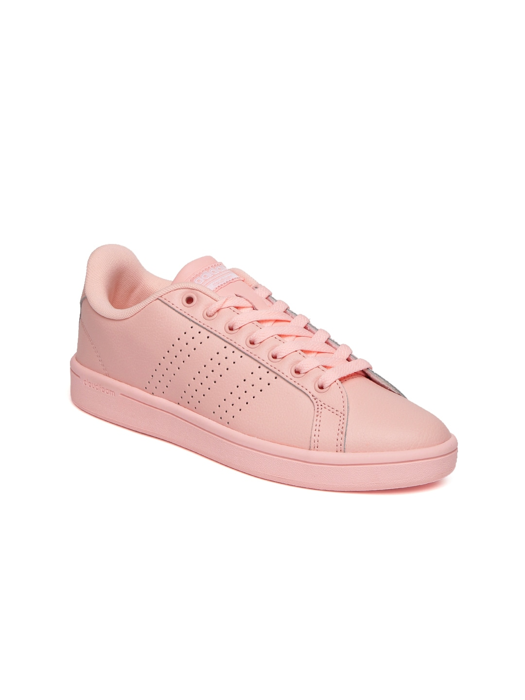 f05f3f588b3933 Adidas aw3977 Neo Women Peach Coloured Cloudfoam Advantage Clean Leather  Sneakers- Price in India
