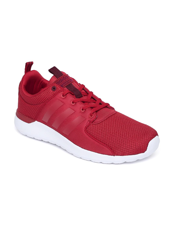 Adidas aw4029 Neo hombres rojo solido cloudfoam Lite Racer zapatillas mejor