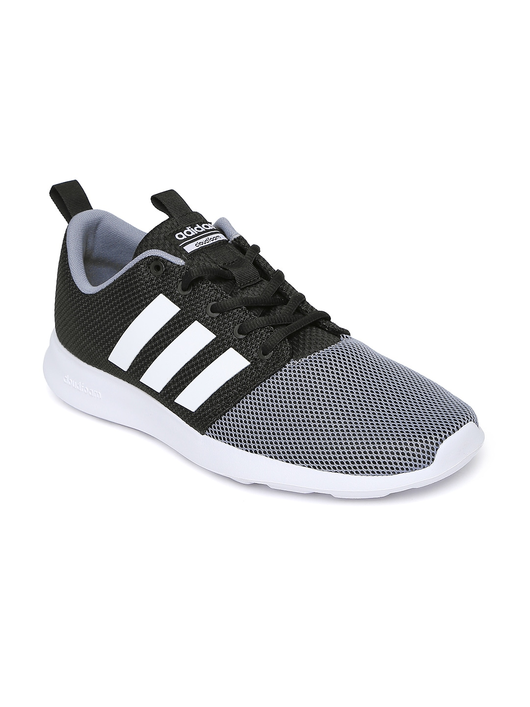 d12c5ad9ed8a3 Adidas aw4159 Neo Men Black And Grey Colourblocked Cloudfoam Swift Racer  Sneakers- Price in India