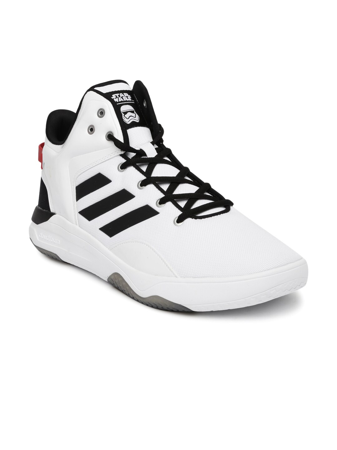 Adidas aw4268 Neo Men White Solid Cloudfoam Revival Star War Mid Top  Sneakers- Price in India 31f225206