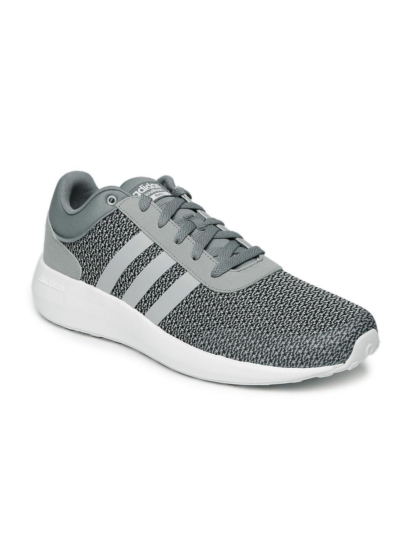 Adidas b74719 neo uomini grigi melange cloudfoam corsa scarpe migliori