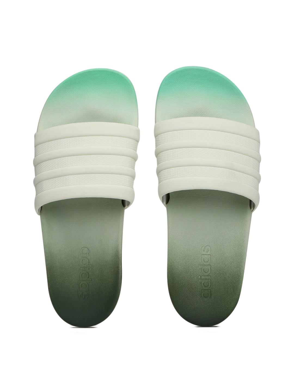 a1534577f Adidas s82061 Women Green Adilette Cf Flip Flops - Best Price in ...