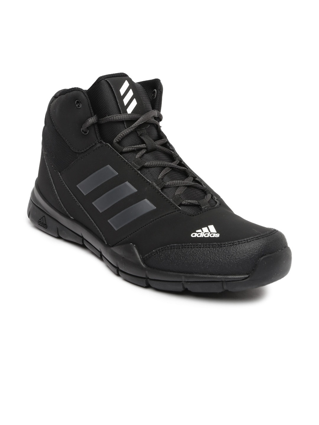 Adidas bi4915 Men Black Glissade Mid Leather Basketball Shoes- Price in  India 50af5e037