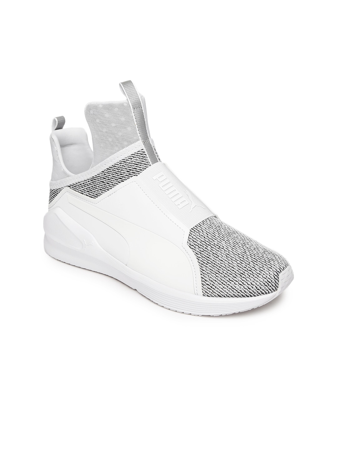 Puma 19030302 Women White And Grey Fierce Knit High Top Training Shoes-  Price in India 72d2a36ac