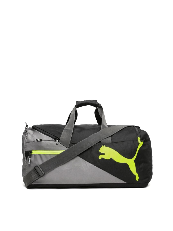 e7b07a12207d Puma 7339511 Unisex Black And Grey Fundamentals Sports Bag M Duffel Bag-  Price in India