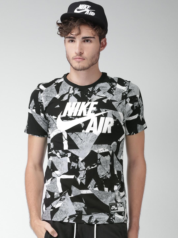 Design your t shirt myntra - Nike Men Black Green Printed As M Nk Air Tee Aop 1 T Shirt