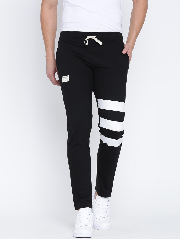 d6a55bf290 Buy Hubberholme Black Slim Fit Track Pants - Track Pants for Men ...