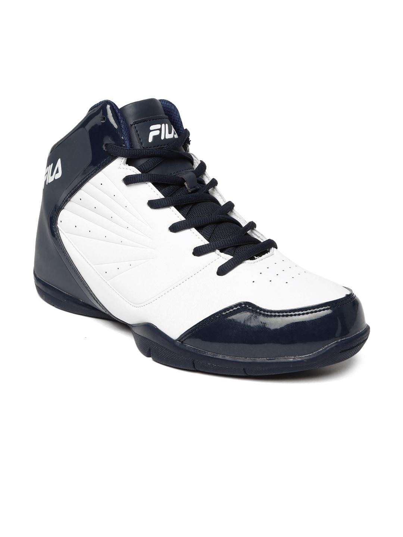 12e3d681077c Buy FILA Men Black   White Rim Loop Perforated High Top Basketball ...