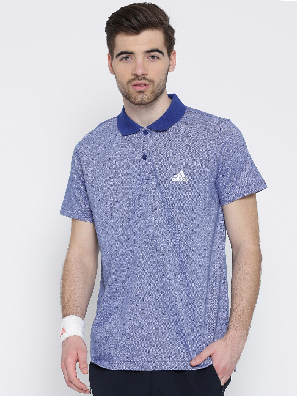 Design your t shirt myntra - Adidas Men Grey Tp Aop Sm Self Design Polo Collar T Shirt