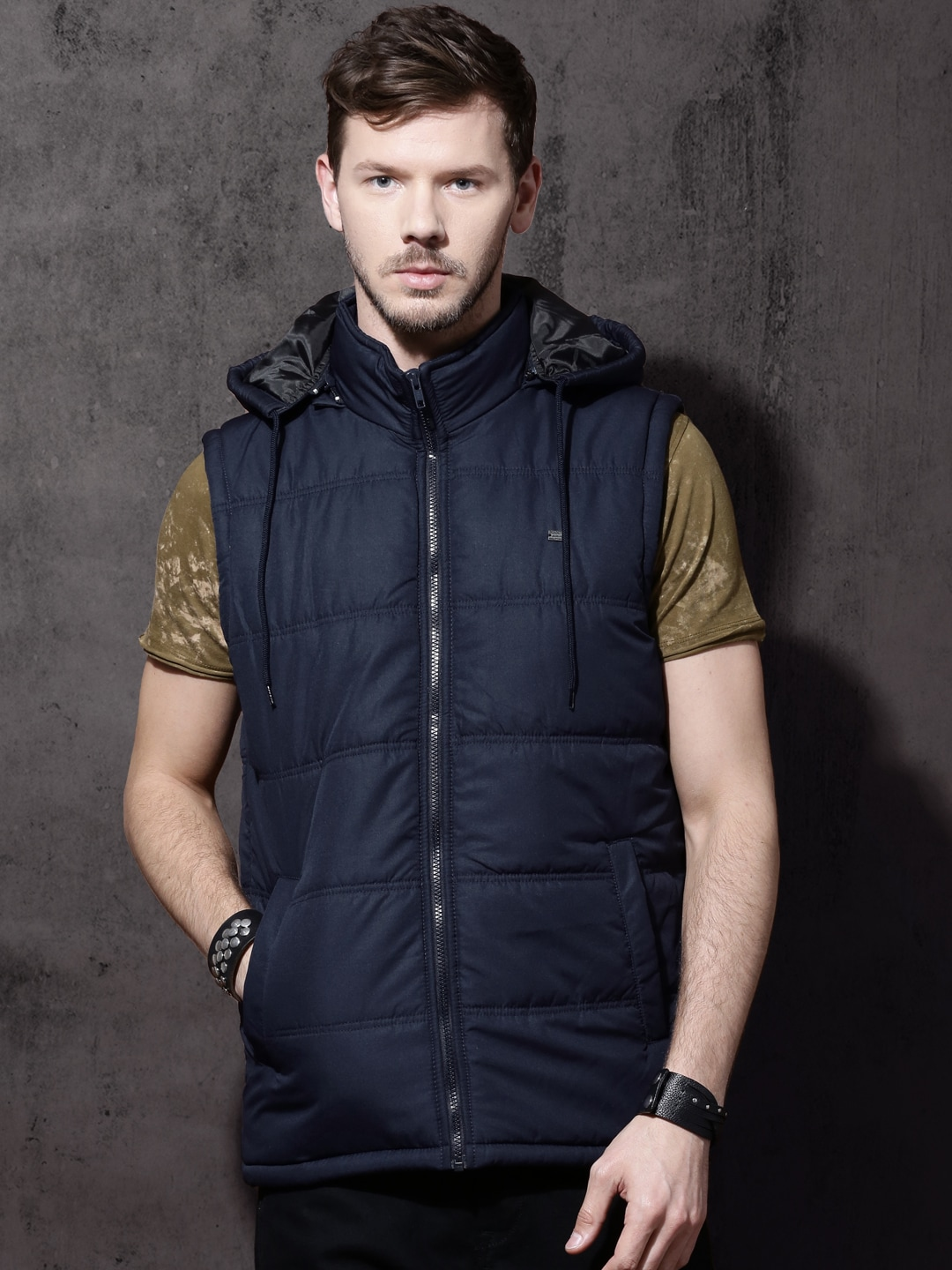 Sleeveless Jeackets Buy Online In India At Fashion Men Casual Parka Down Coat Hooded Padded Zipper Best Price