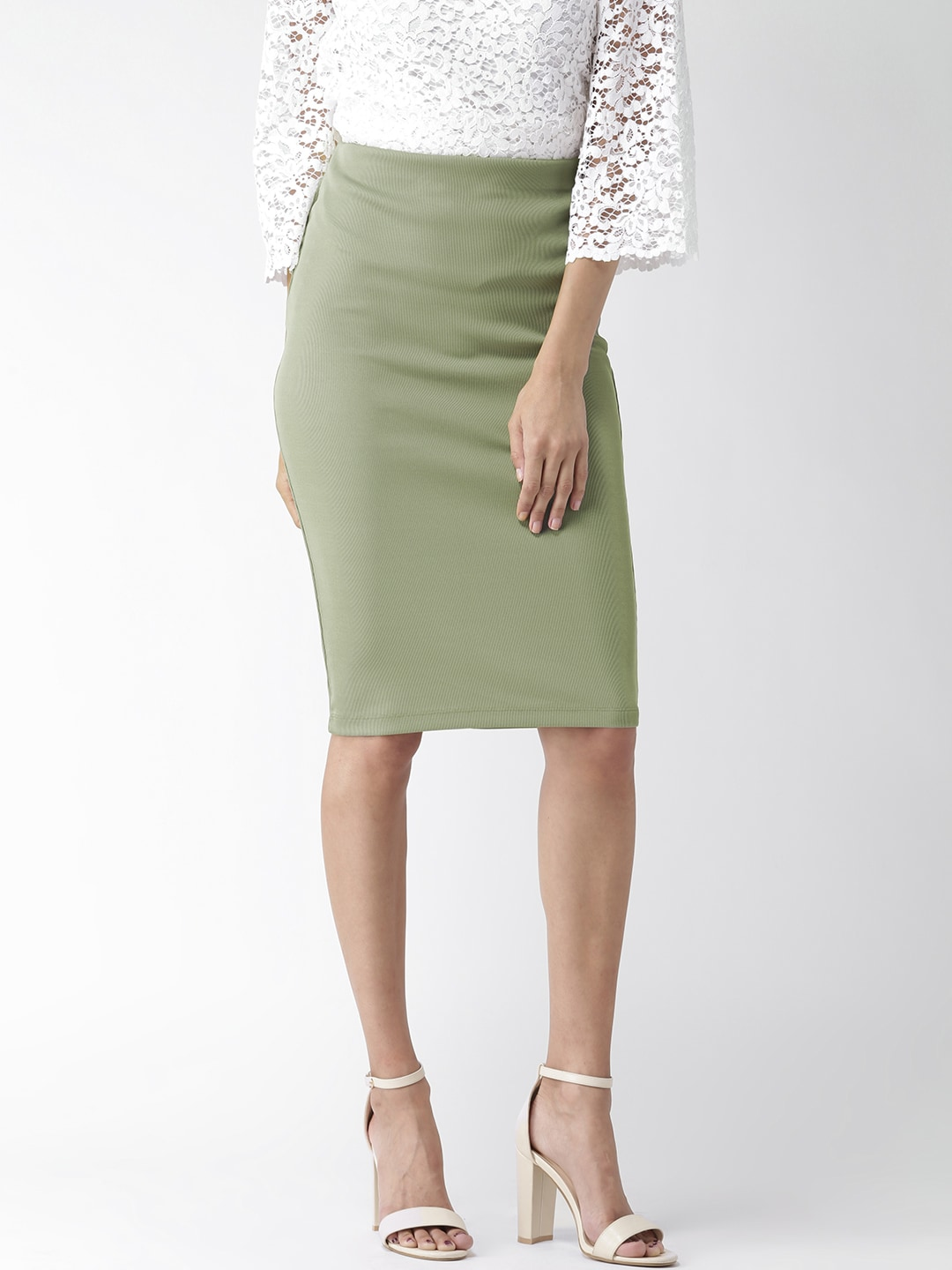 a52734adfeb Buy FOREVER 21 Brown Faux Leather Pencil Skirt - Skirts for Women ...