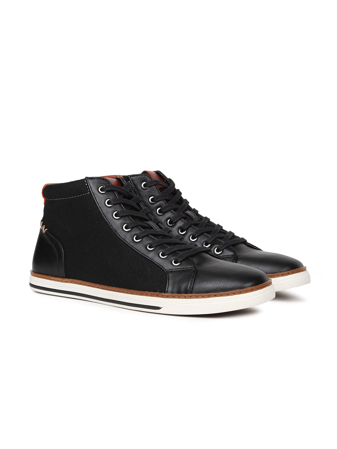 32b47392f6d Buy Steve Madden Men Black Quilted Mid Top Sneakers - Casual Shoes ...