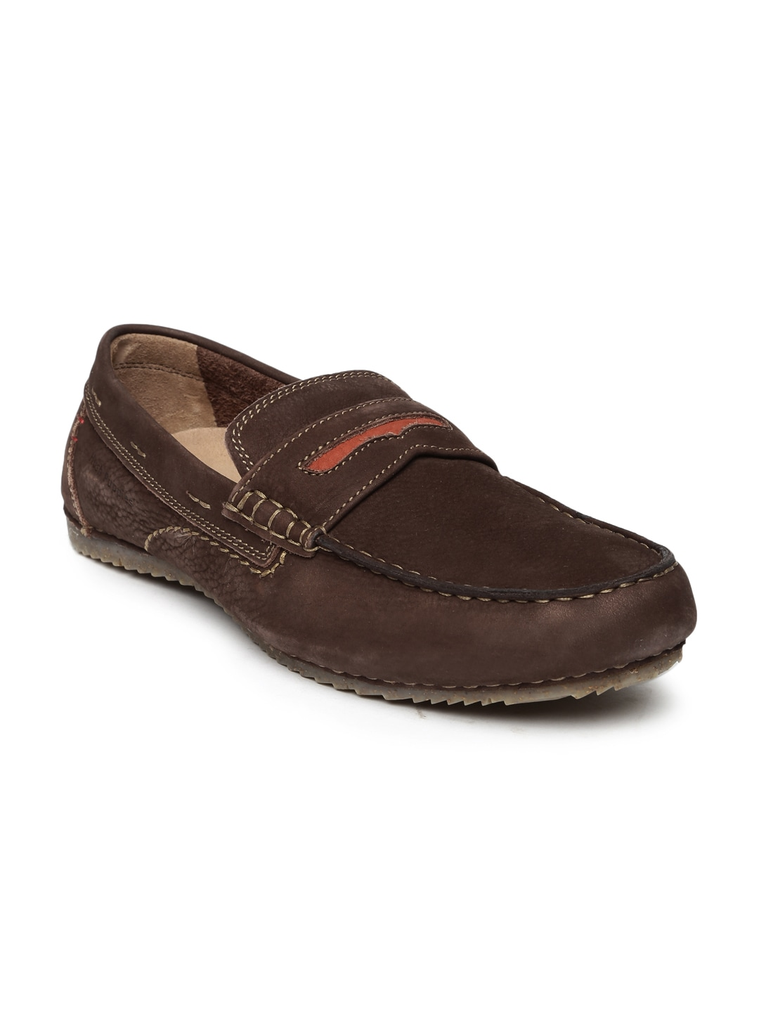 63a90941572 Hush Puppies Ceil Penny Brown Moccasins for women - Get stylish ...