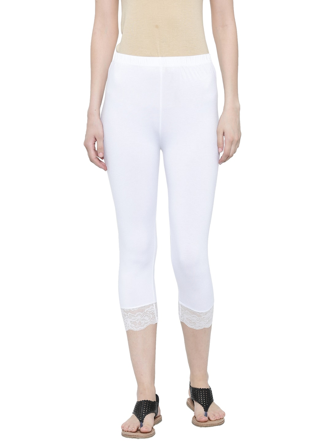 9cd32124bb901 Buy Castle Women Off White Shimmer Legging - Leggings for Women ...