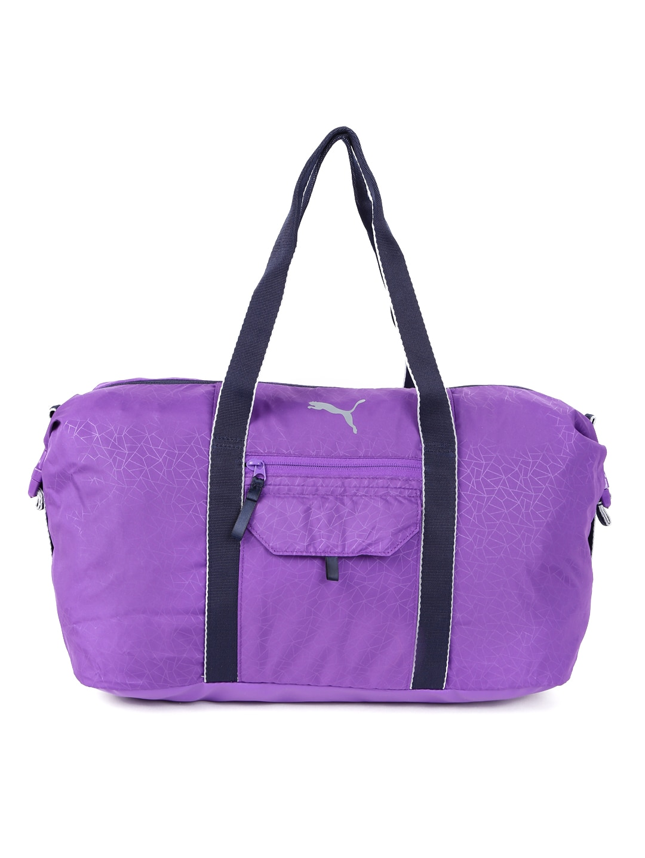 fa9428f907c6 Buy Puma Women Purple   Black Core Active Printed Sports Duffel Bag ...