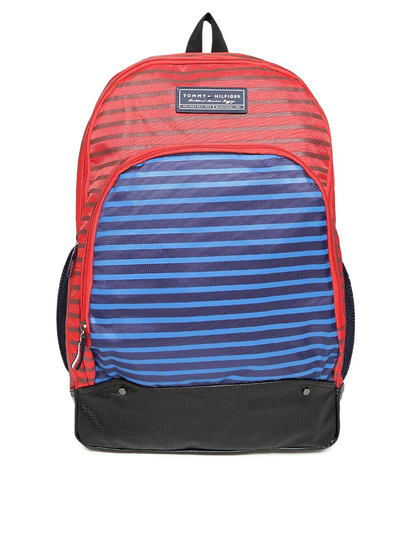 7e3acbb2fed Buy Tommy Hilfiger Unisex Green & Blue Striped OLYMPUS'17 Backpack ...