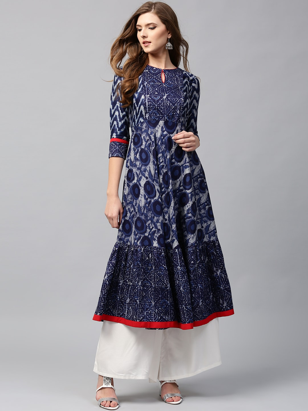 413325c69 Libas Navy Blue Printed Anarkali for women price in India on 30th ...
