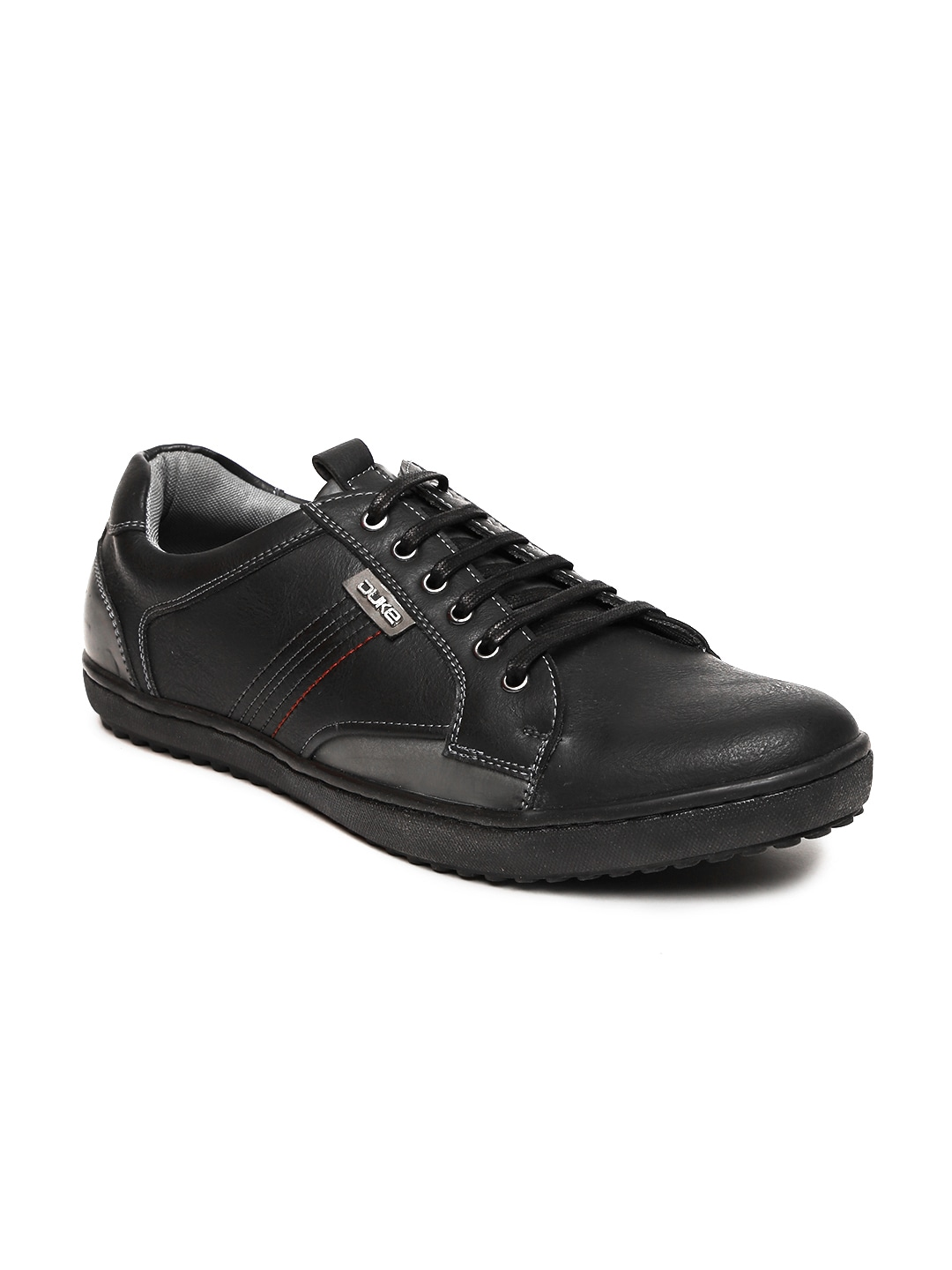 f6b96ab9a30f Buy Duke Men Black Textured Mid Top Derby Shoes - Casual Shoes for ...